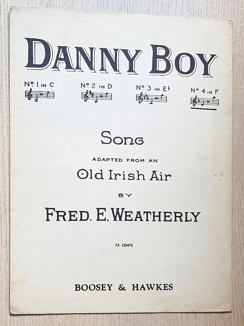 DANNY BOY. Song. Adapted from an Old irish Air