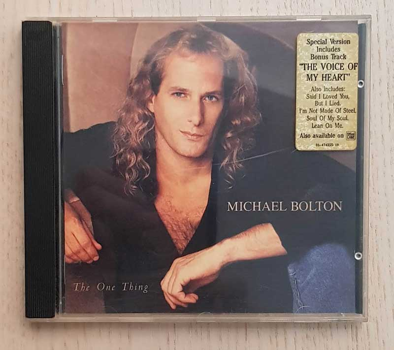 MICHAEL BOLTON - THE ONE THING. (CD music)