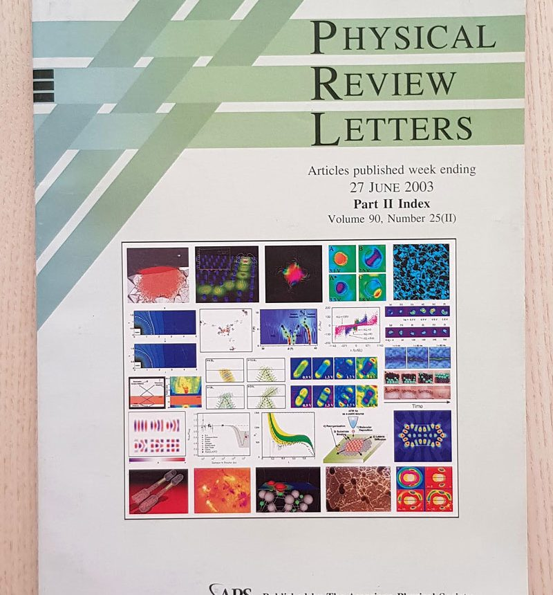 PHYSICAL REVIEW LETTERS. Articles published week ending 27 June 2003. Part II Index. Volume 90. Number 25 (II)