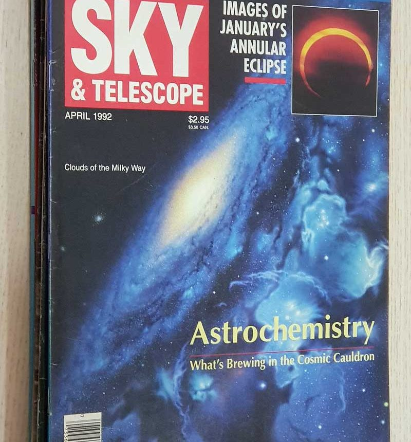 SKY & TELESCOPE. año 1992. Vol 83: nº 2 - 4 - 6 (june). Vol 84: nº 3 - 6. (PRICE BY UNIT 2 EUR)