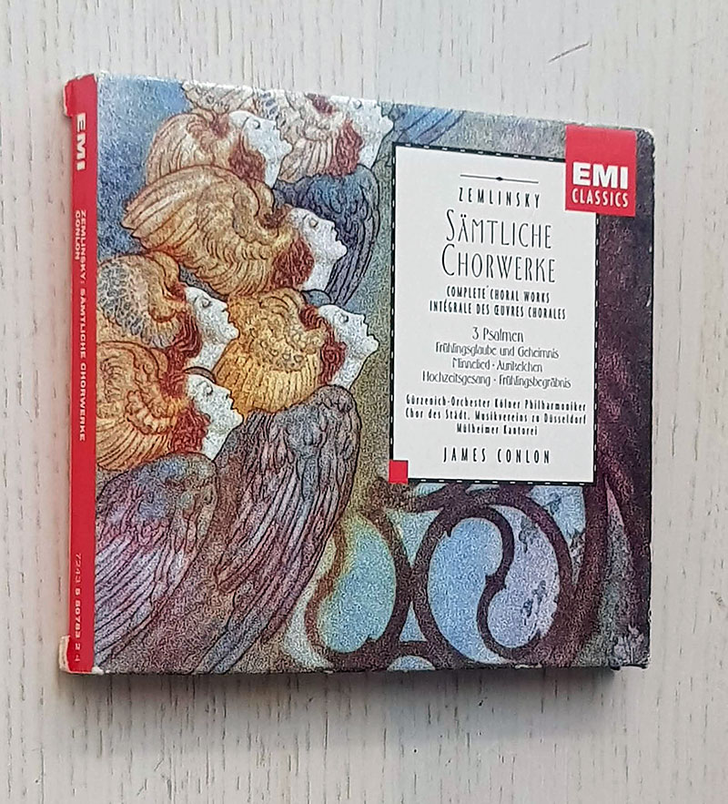 ZEMLINSKY: SÄMTLICHE CHORWERKE. Complete Choral Works intégrale des oeuvres chorales (CD music with case and little book / EMI classics)