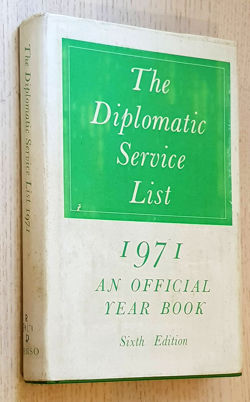 THE DIPLOMATIC SERVICE LIST 1971