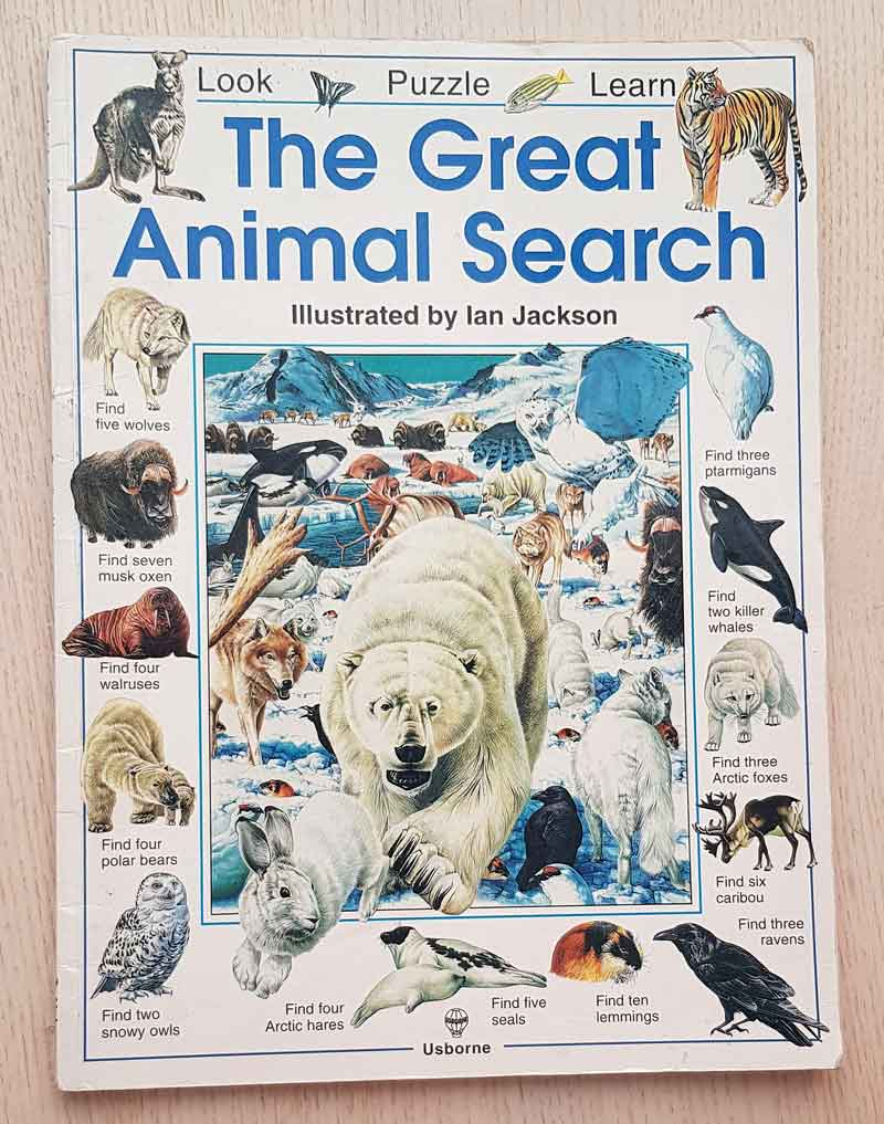 THE GREAT ANIMAL SEARCH. Look, Puzzle, Learn